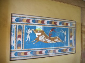 A fresco at Knossos Palace